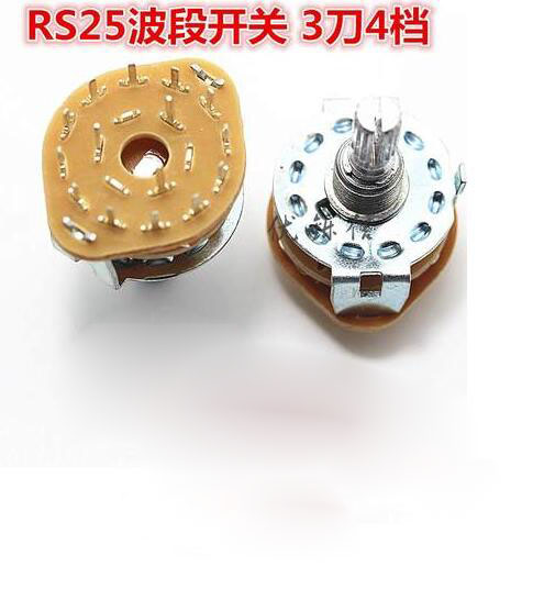 10pcs Lot Rs25 3p4t Band Switch Channel Rotary 3 Pole 4