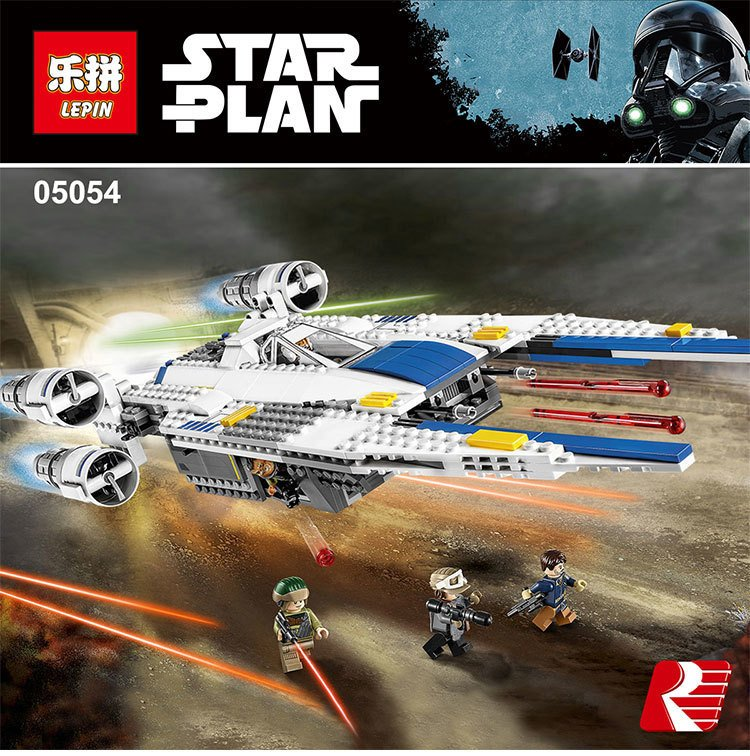 Lepin 05054 Star series Wars Rebel U-Wing Fighter Genuine Building Blocks Bricks Toys Compatible With Lego 75155 679 Pcs конструктор lepin star plan истребитель повстанцев u wing 679 дет 05054