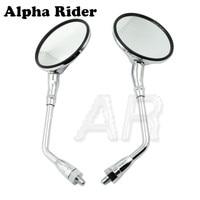 Rear View Glass Side Mount Mirrors Set for Honda XL100S 79 80 / XL125S XL185S 79 83 / CB200 1974 / XL250 1976 / CX500 78 79
