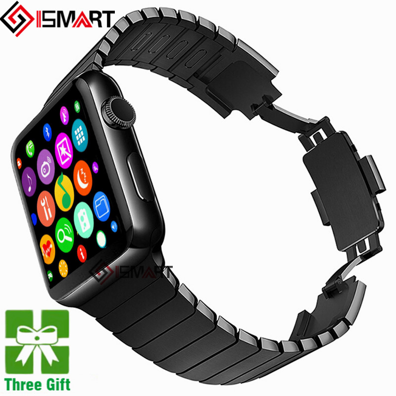 imágenes para En stock MTK2502C IWO 2 Reloj Inteligente de Ritmo Cardíaco 1:1 Bluetooth Smartwatch para Android IOS Teléfono
