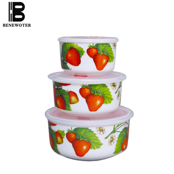 3PCS/Lot Creative Ceramic Fresh Bowl Bowls with Seal Lid Kit Tableware Home Dinnerware Rice Lunch Box Soup Noodles Bowls Gifts