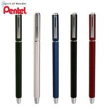 Caneta de gel pentel bln665 metal assinatura caneta material de escritório à base de água preto recarga 1pcs