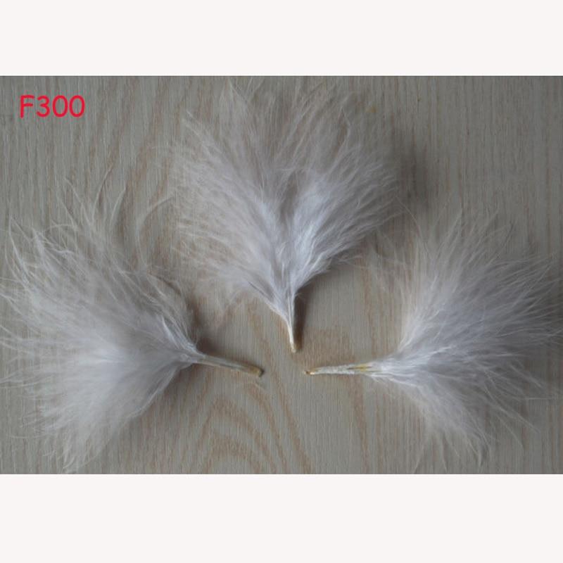 100 шт. красивое окрашивание индейки сосудов бархатное перо 2-4 «Белый
