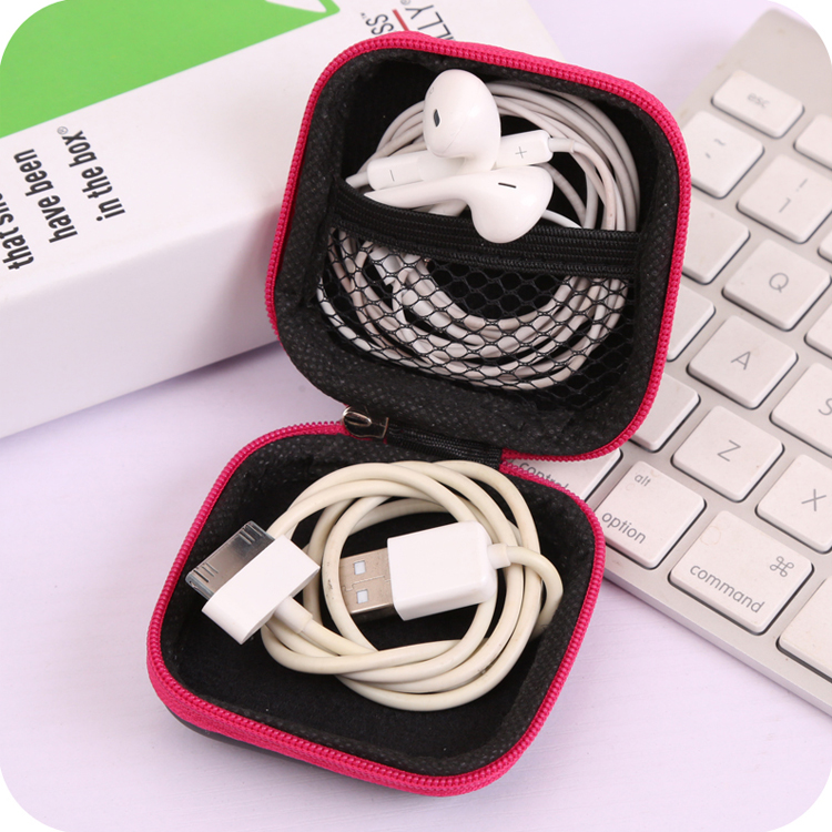 Random Color MINI Clip Holder Clip Dispenser Desk Organizer Bags Headphones Earphone Cable Earbuds Storage Pouch Bag