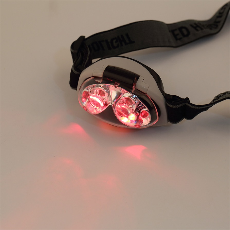 Black & White 12000mcd Waterproof Ultra Bright 6 Led Head Lamp Light Torch Headlamp Headlight 3 Modes For Camping Outdoor