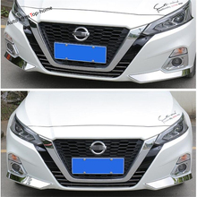 Yimaautotrims Front Fog Lights Under Protect Corner Cover Trim Fit For Nissan Altima Teana 2019 Stainless Steel Chromium Styling