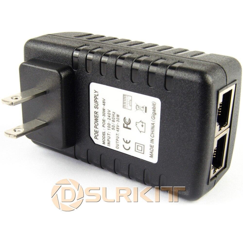 Gigabit 48V PoE injecteur adaptateur puissance sur Ethernet 802.3at af UBNT AP 1000Mbps