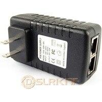 Gigabit 48V adaptador inyector Poe potencia sobre Ethernet 802.3at af UBNT AP 1000Mbps