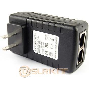 Gigabit 48V wtryskiwacz PoE zasilacz przez Ethernet 802 3at AF UBNT AP 1000 mb s tanie i dobre opinie Dslrkit CN (pochodzenie) POE-30W-48V