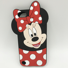 For ipod touch 6 case Minnie Mouse Case 3D Cartoon cute Case For Apple iPod Touch 5 5th 6 6th Cover Bowknot Soft Silicone coque чехол r just для apple ipod touch 6 touch 5