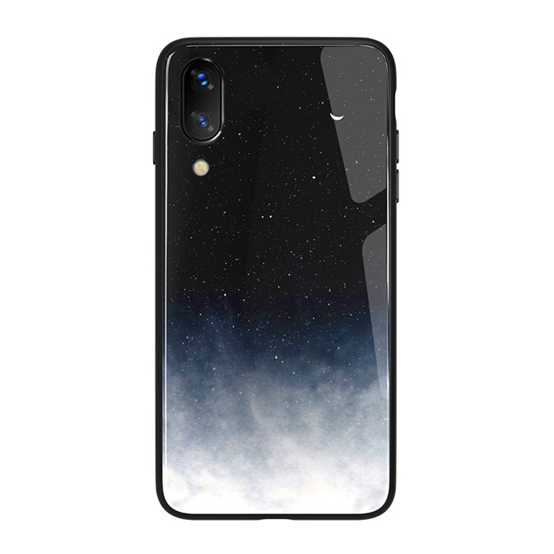 Case For iPhone XS Max XR X 8 Case Silicon Slim Back Tempered Glass Starry sky For iPhone 8 7 Plus 6 6s 8Plus Cases Cover Capa