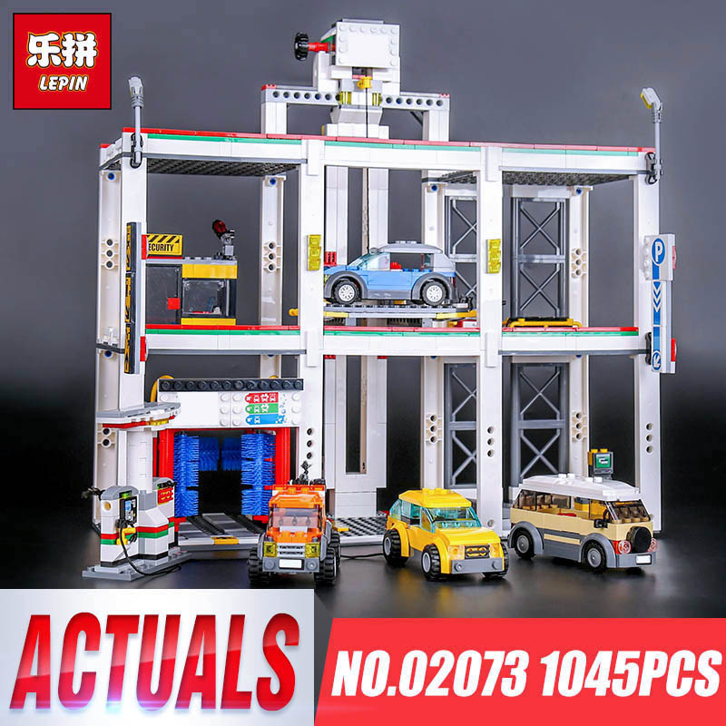 Lepin 02073 Genuine 1045Pcs City Series The City Garage Set 4207 City Garage Building Blocks Bricks Children Toys Gift Model lepin city town city square building blocks sets bricks kids model kids toys for children marvel compatible legoe