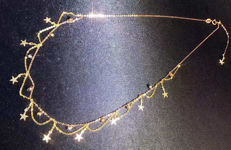 Sieraden 18 k Au750 gouden Ketting huwelijksgeschenken W 102-in Kettingen van Sieraden & accessoires op  Groep 2
