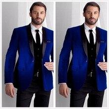 Royal Blue Mens Suits Slim Fit Blazer Groom Wedding Business Party Prom Coat