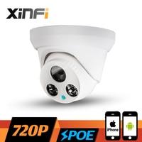 Xinfi 1.0mp HD 720 P Крытый купольная POE Камера Ночное видение ик-onvif P2P сети ip Камера видеонаблюдения cam с USB LED подарок