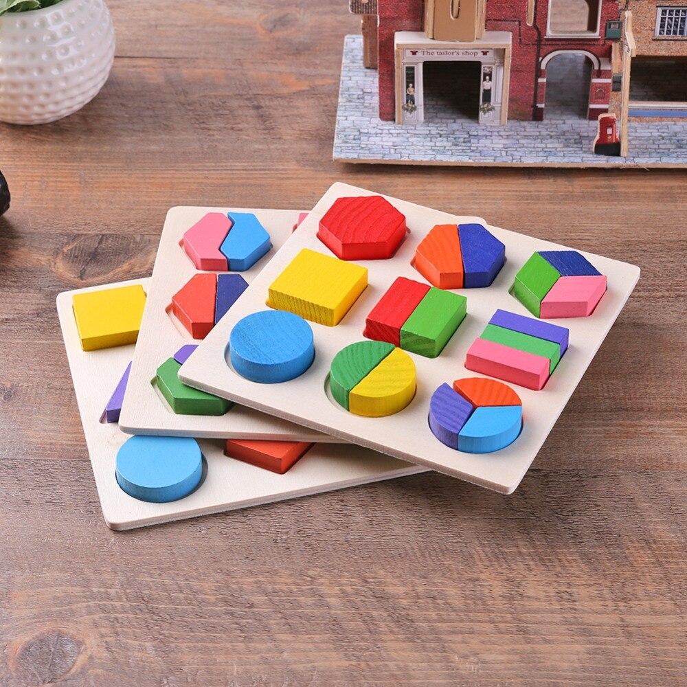 BS # S Copii Baby De învățare de lemn Geometrie Educaționale - Jocuri și puzzle-uri - Fotografie 5