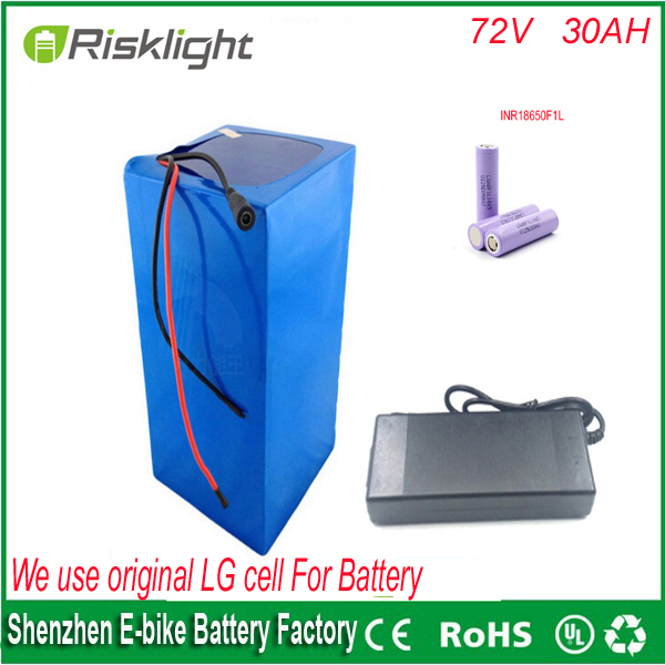 li-ion battery 72v battery pack electric bicycle battery 72V 34AH lithium battery pack for 72V 3000W motor Use LG 18650 cell free customs taxes super power 1000w 48v li ion battery pack with 30a bms 48v 15ah lithium battery pack for panasonic cell