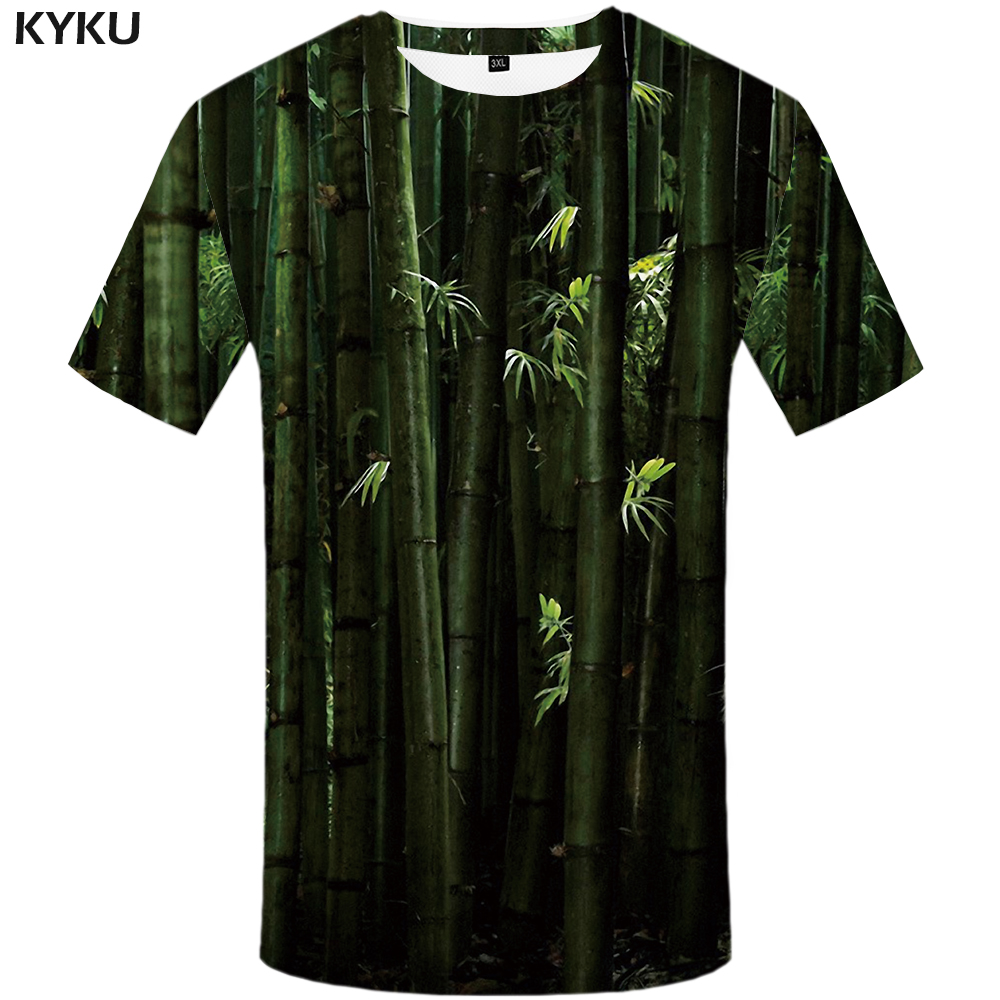 KYKU Forest Shirt Plant T-shirt 3d T Men Short Sleeve Mens Clothing Oversized Tshirt Funny Shirts Summer 2018 New