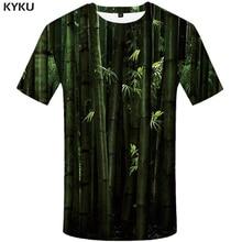 KYKU Forest Shirt Plant T-shirt 3d T Shirt Men Short Sleeve Mens Clothing Oversized Tshirt Funny T Shirts Summer 2018 New стоимость