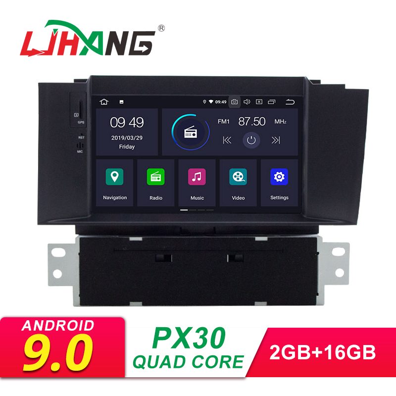 LJHANG Android 9.0 Car DVD For Citroen C4 C4L DS4 2011 2012 2013 2014 2015 1 Din Multimedia Car Stereo Radio GPS Navigation WIFI