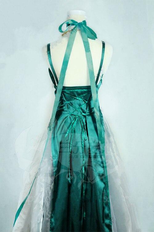 Сейлор Мун Сейлор Нептун Kaiou Мичиру Косплэй костюм высокое качество индивидуальный заказ светло-зеленое платье