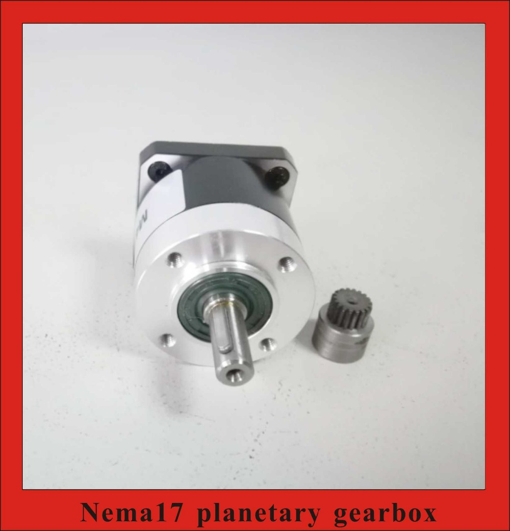 5 1 10 1 NEMA 17 Planetary Gearbox Rated Torque 3 5N m Planet Reducer for