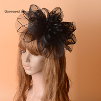 Purple Gree WHite Women Wedding Fascinator And Hats Floral Mesh Hairpin Fashion Cocktail Horse Race Ladies