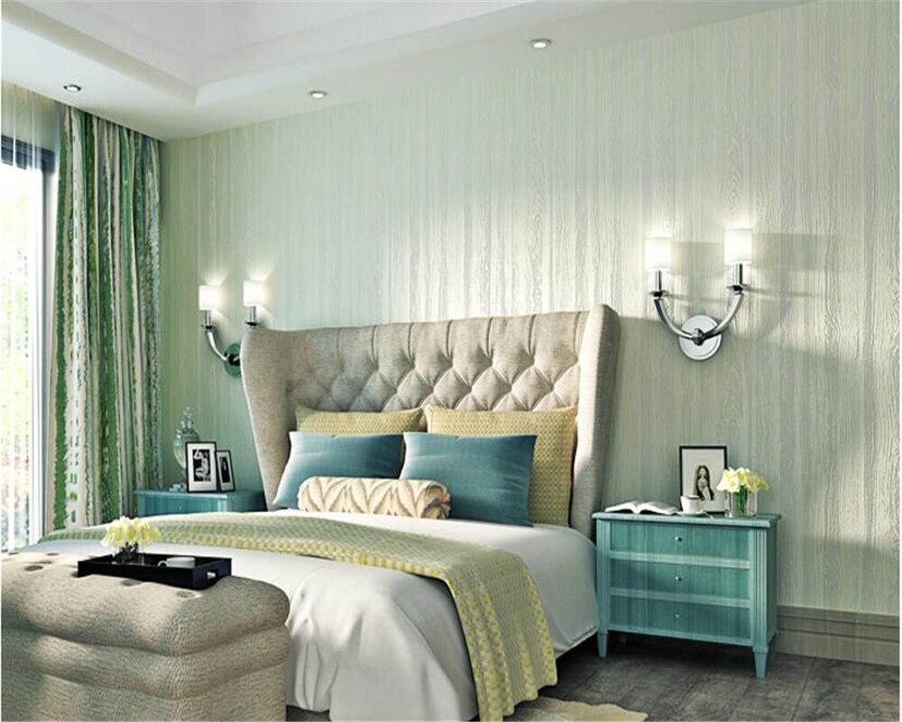 Beibehang Rétro mode principal personnalité bois grain simple papel de parede papier peint salon chambre fond d'écran