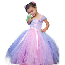 Princess Tangled Rapunzel Tutu Dress for Kids Girl Rapunzel Cosplay Clothing Costume Child Birthday Party Sophia Princess Dress abgmedr 2018 tangled dress girls princess dresses children clothing costume tangled rapunzel dress kids holiday party clothes