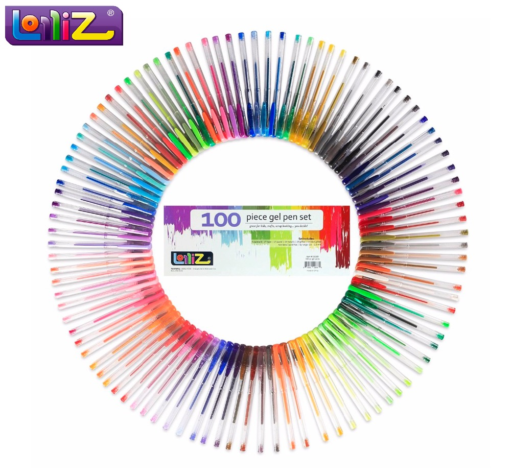 Lolliz 70 unids/100 unids color Bolígrafos del gel pluma Linda ...