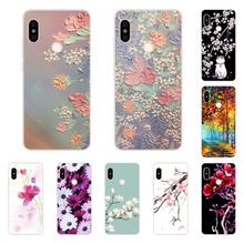 xiaomi mi a2 lite Case,Silicon Full flower Painting Soft TPU Back Cover for xiaomi mi a2 lite protect Phone bags