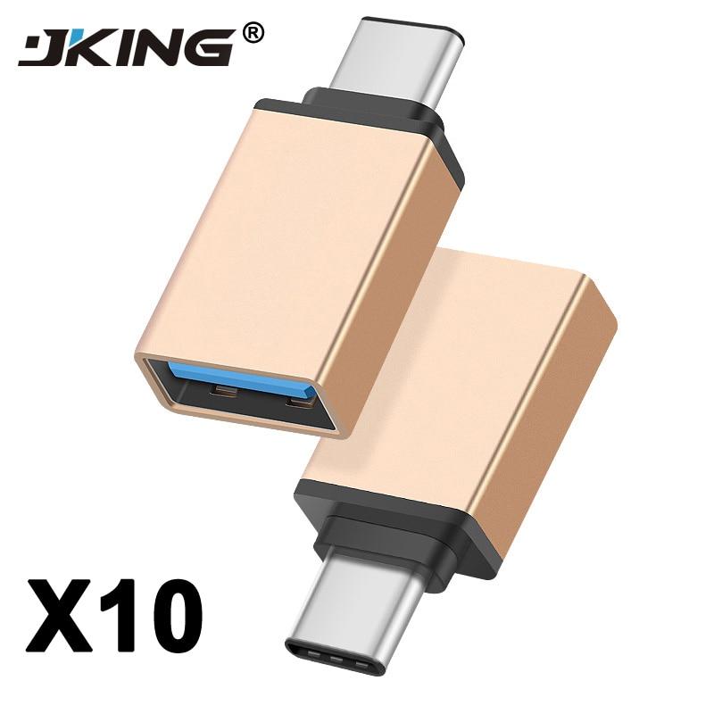 10PCS USB Type C OTG Adapter For Xiaomi Mi5 Huawei Honor 8 Nexus 5X 6P USB 3.0 Type-C OTG Converter For Samsung Galaxy S8 USB-C
