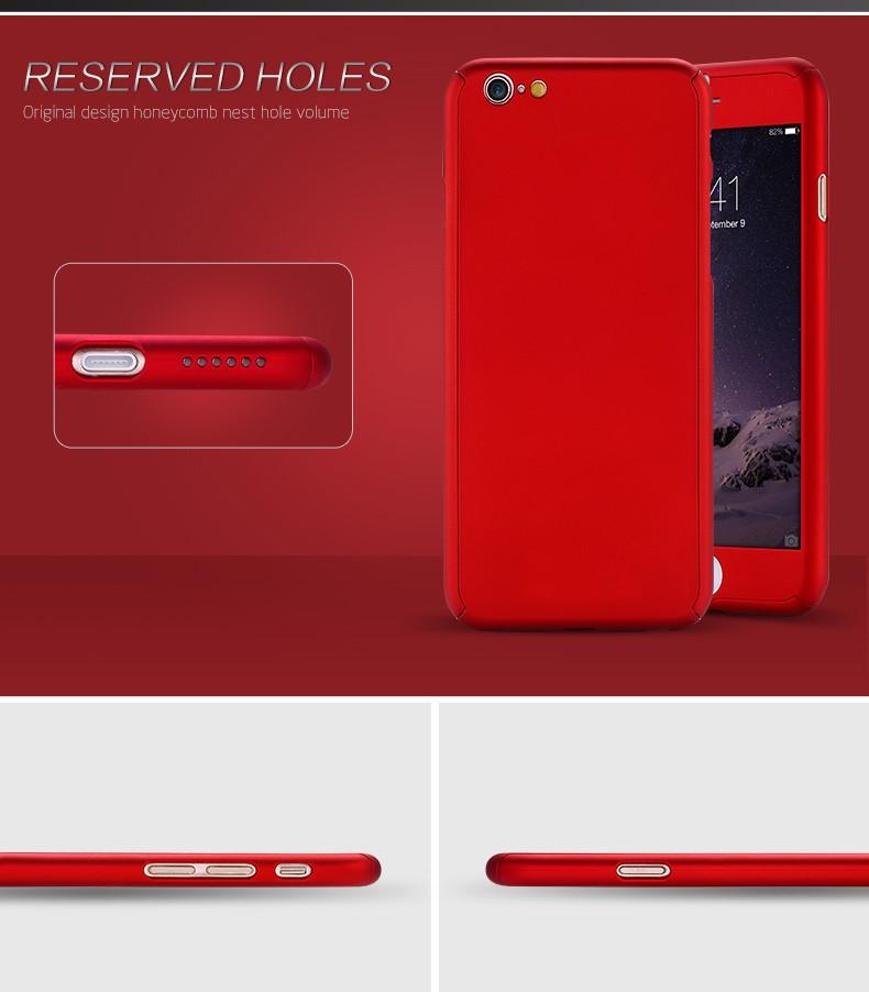 Floveme 6 s 7 plus armor screen protector 360 stopni case dla iphone 7 6 6 s dla iphone 6 6s 7 plus full chroń odporny na wstrząsy pokrywa 5