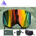 Marca de Gafas De Esquí Con Doble Lente UV400 Anti-vaho Gafas de Esquí Gafas de Nieve Snowboard Gafas de Esquí Hombres Mujeres