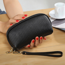 Women Genuine Leather Cosmetic Bag toiletry bag Actor makeup