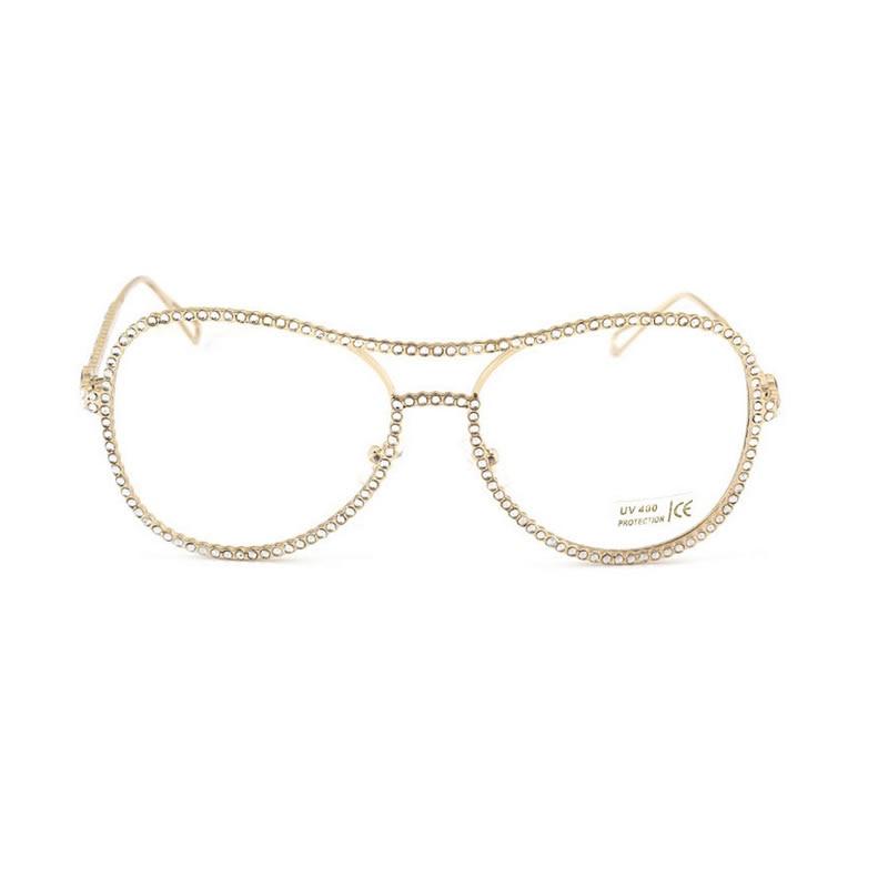 4da3495353e216 ALIENSOCE Vintage Glasses Women Brand Designer Retro Large Frame Rhinestone  Eyeglasses Optical Eyewear Anti fatigue Glasses-in Eyewear Frames from  Apparel ...