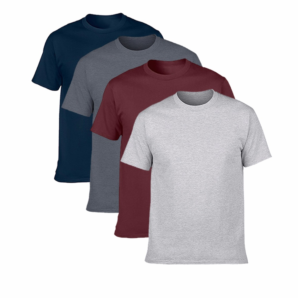 Buy Two Get Two Hot Sale Classic Men T shirt Short Sleeve O neck Mens T-shirt Cotton Tees Tops Mens Brand tshirt Plus size S-3XL