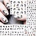 12 листов с изображением черного кота, дизайн ногтей, переводятся с помощью воды Наклейка на ногти татуировки слайдера аксессуары для ногтей...