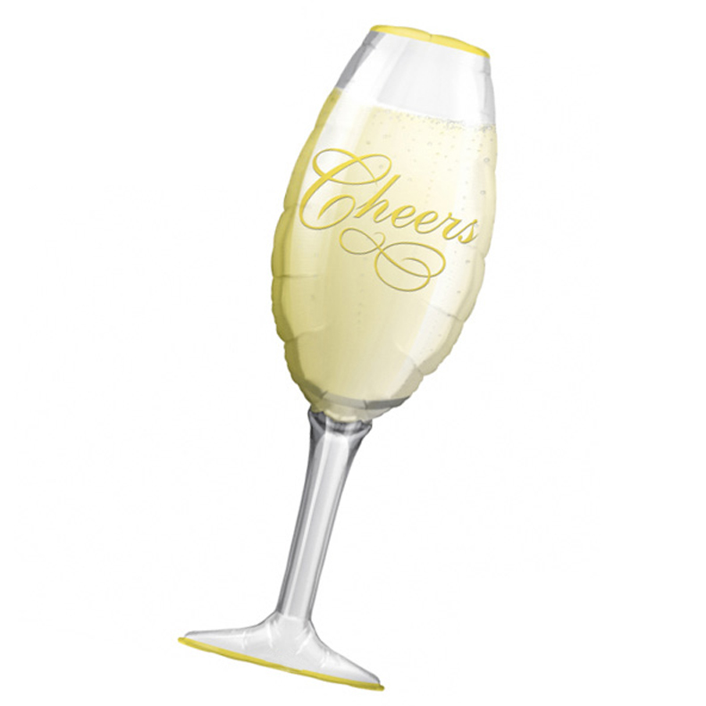 3Pcs New Year Cheers Wedding Party Beer Marriage Foil Balloon Giant Bride Champagne Wine Glass Cheers Congratulations Balloon in Ballons Accessories from Home Garden