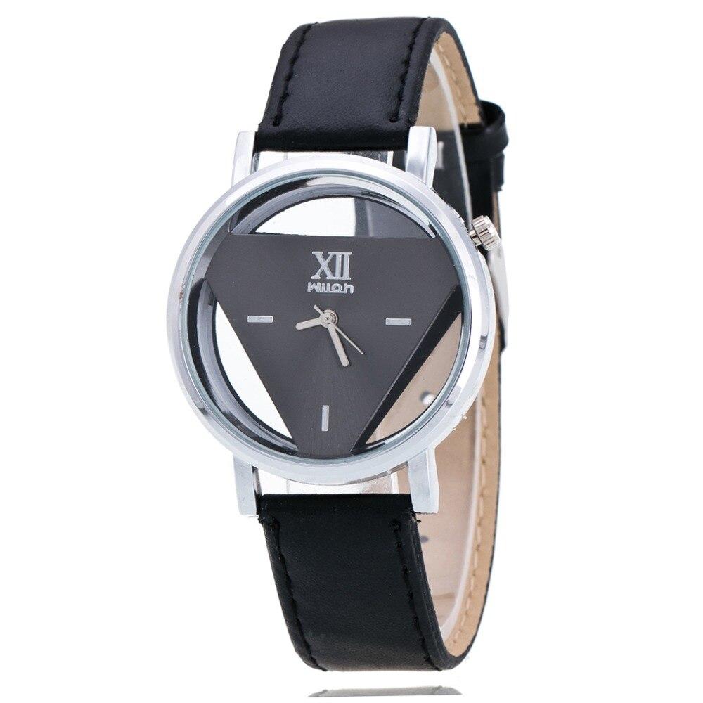 2020 High Quality New Fashion Watch Luxury Pierced Triangle Dress Watch Women Elegant Quartz Watch Lady Refinement Wristwatch