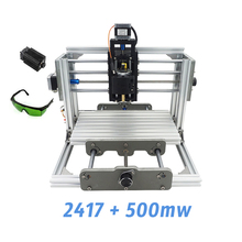 2417 + 500 mw, diy máquina de grabado, mini Pcb Fresadora Pvc, Metal máquina de Talla De Madera, 2417, control grbl
