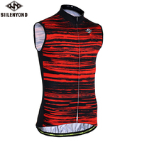 SIILENYOND 2018 Summer Sleeveless Racing Bicycle Clothing Breathable Cycling Vests Jersey Ropa Maillot Ciclismo Bike Sportswear