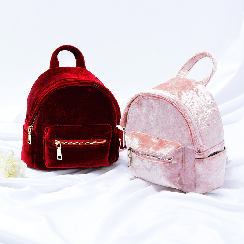 Poity Women Girls Cute Mini Backpack Casual Rucksack School Shoulder Travel Small Bag-Pink