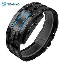 Teamyo Спорт Смарт Браслет Фитнес трекер умный браслет светодиодный дисплей смарт-браслет трекер 50 м Smart Watch для мужчин