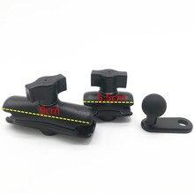 אלומיניום L סוג 1 אינץ (25mm) כדור עם 10mm חור + כפול שקע זרוע עבור ram הר עבור Gopro hero 5 Garmin GPS, Smartphone