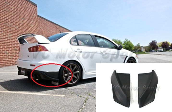 Car  Accessories FRP Fiber Glass Rs Style Rear Bumper Caps Corner Attachment Fit For 2008-2010 Evolution X EVO X EVO 10 Spats