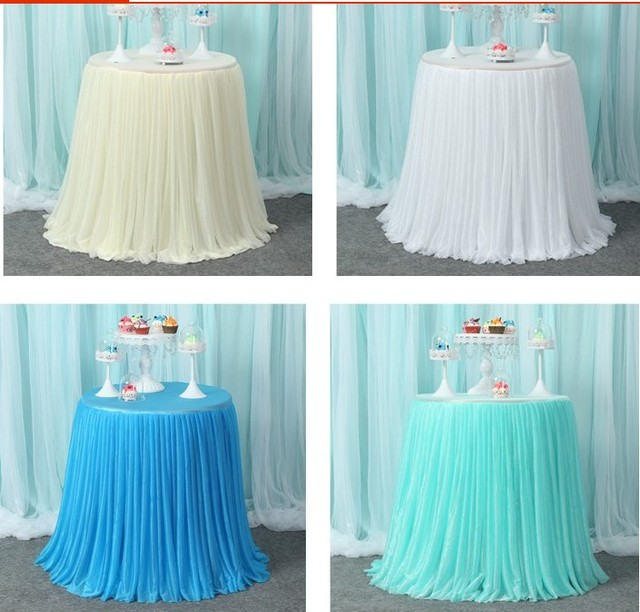 Aliexpress Buy Round Table Skirts With Table Covers Wedding