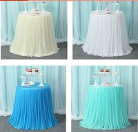 Round Table skirts with table covers wedding champagne tower candlesticks candy dessert table decoration baby shower