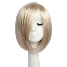 BESTUNG Short Side Part Bob Wig Stylish Straight Ombre Blond