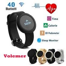 Volemer ET01 Smart б телефон монитор сердечного ритма Bluetooth Смарт часы с удаленного Камера Сенсорный экран для Android/IOS pk ID107